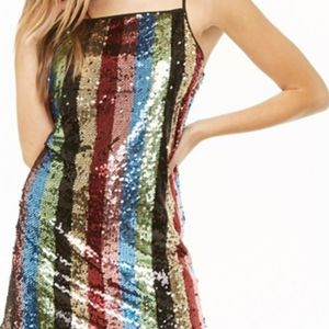 NWT Forever 21 Multicolored Sequin Knit Dress